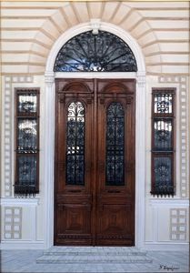 Traditional entrance door
