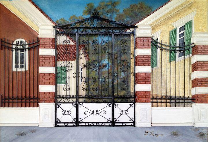 Door with railings (Kampos Chios) - Giorgos Stragkas
