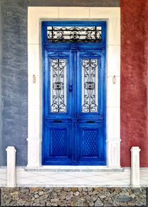 Traditional entrance door at Lesvos