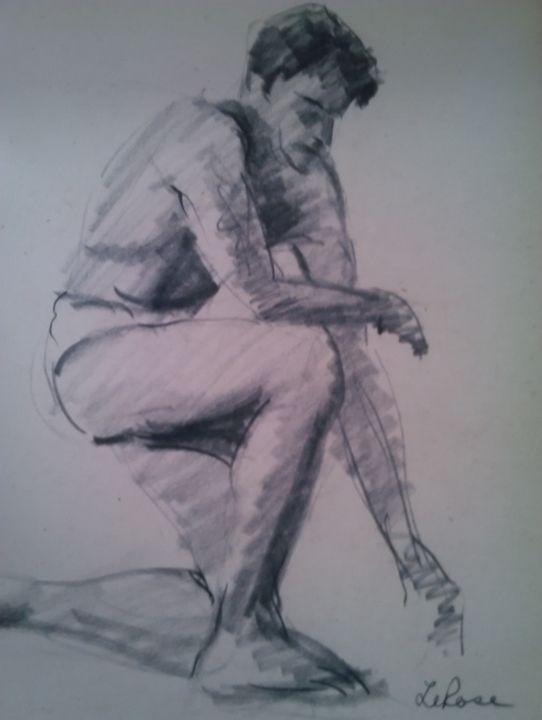 CHARCOAL WHITE MAN - ART_FOR_U_99