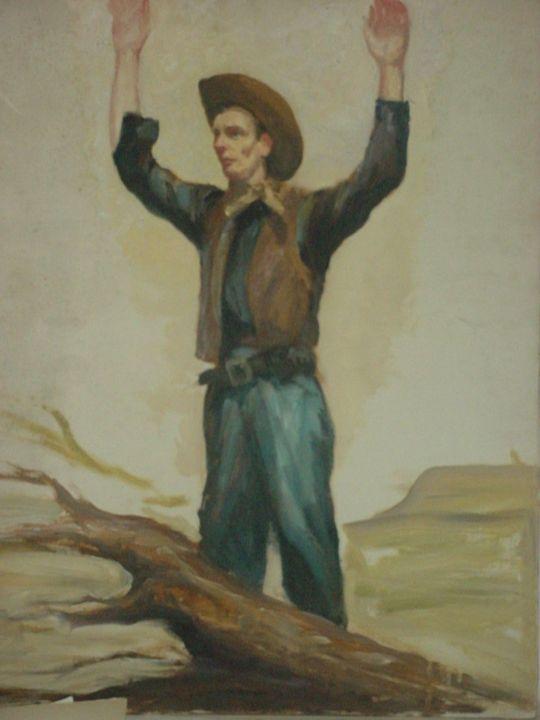 COWBOY ORIGNAL OIL 1947 - ART_FOR_U_99