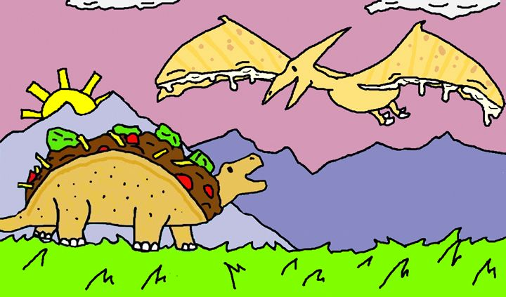 Tacosaurus & Quesadilladactyl - Tacosaurus