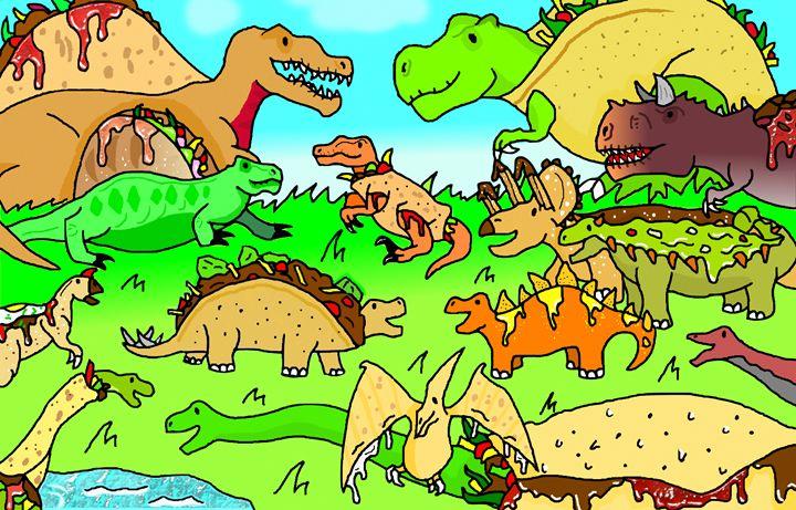 Tacosaurus holds a fiesta - Tacosaurus