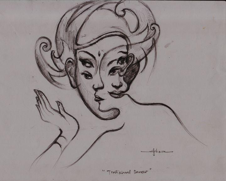Java dancer, drawing - ARHARRA ART