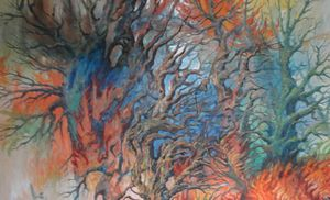 abstrak fire trees