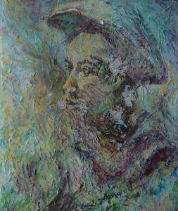 abstrak ekspresionist old man