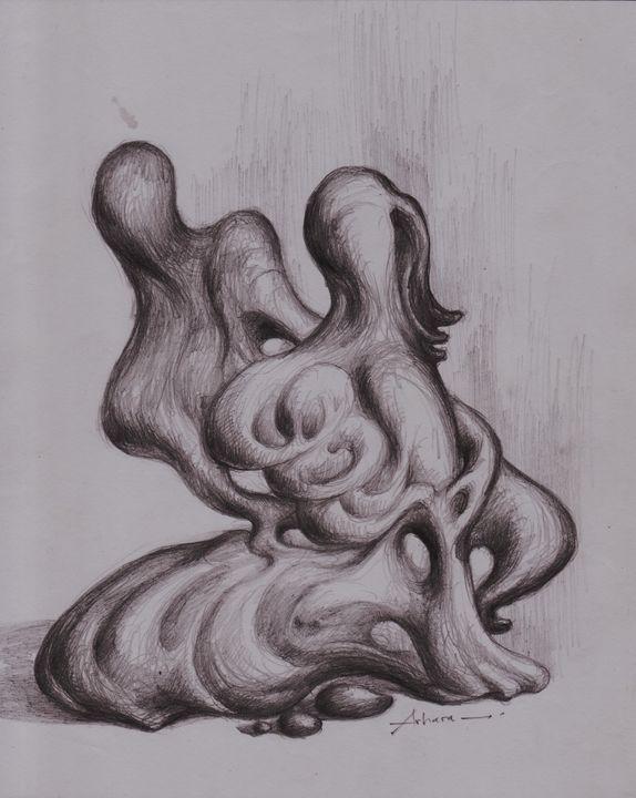 Drawing. Happy Family. - ARHARRA ART