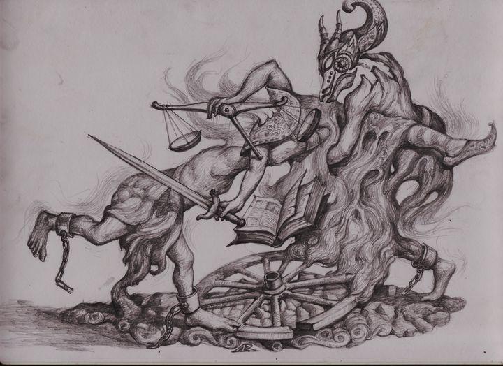 Drawing. Pembalasan Rakyat Jelata. - ARHARRA ART