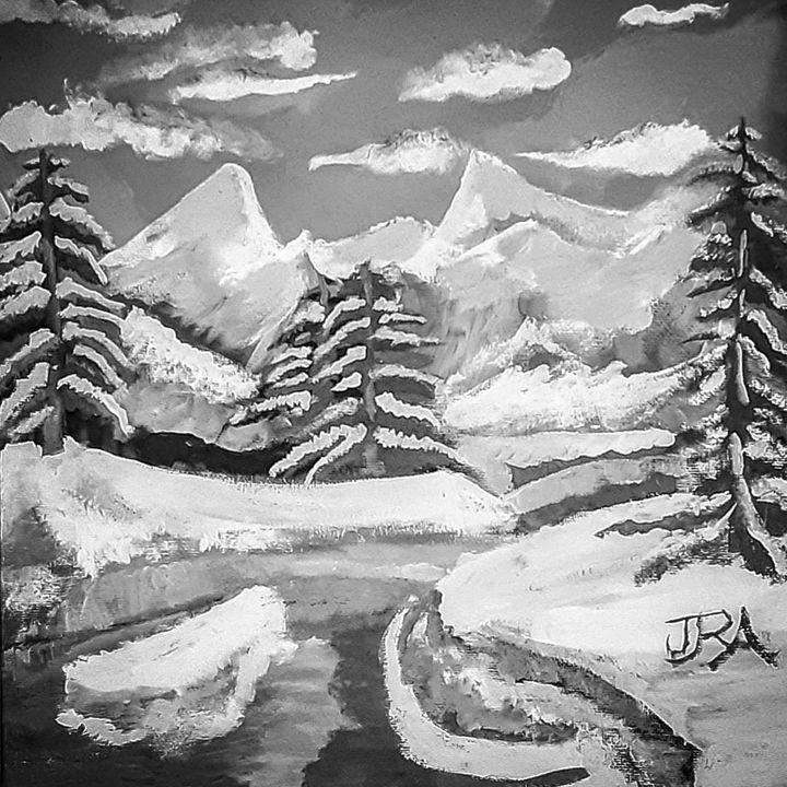 Frozen Black - AllenArtsStudios