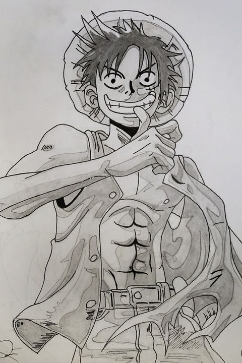 Luffy Drawing - Vision