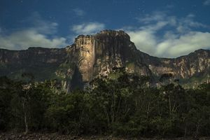 Angel falls at night