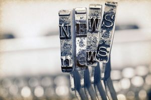 The word NEWS with old typewriter