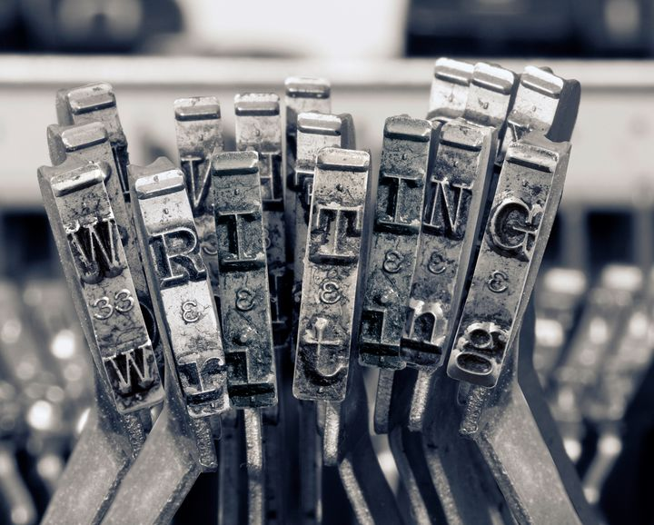 The word  writing with old typewrite - Charles Taylor