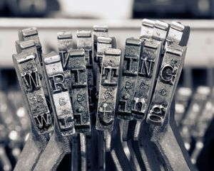 The word  writing with old typewrite