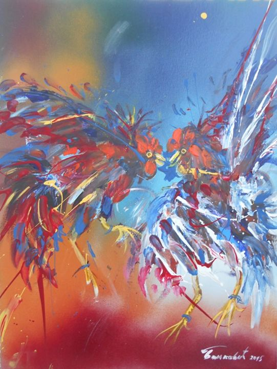 ROOSTERS FIGHT 1 - ARTS FROM SERBIA