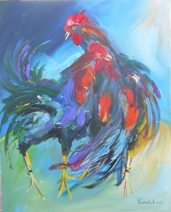 ROOSTER AND HEN - ARTS FROM SERBIA