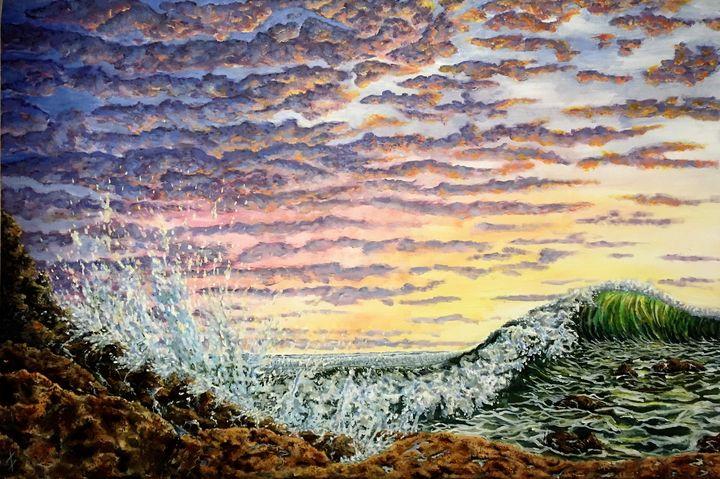 The Sunset & The Stormy Sea - StewArt Tornberg