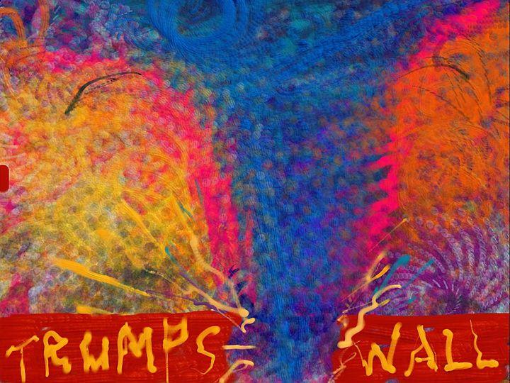 Blue Tornado Destroying Trumps Wall - JupiterFreeman