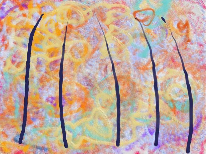 Blue Poles 55 - JupiterFreeman