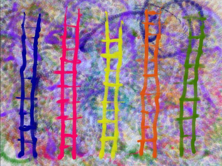 Blue Ladders 24 - JupiterFreeman