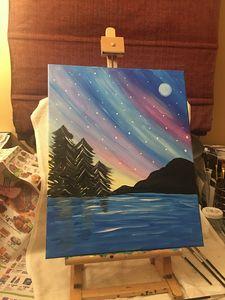 Pastel Sky at Moonlight