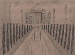 Taj Mahal - Hand Drawing