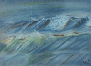 Angry Ocean - Pastel Drawing