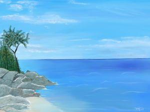 Greek Seascape - Digital Drawing