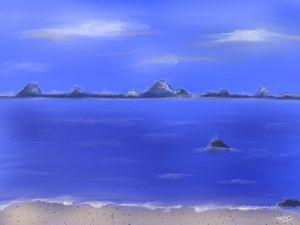 Evening Sea - Digital Drawing