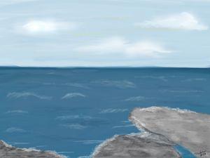 Seascape 2 - Digital Drawing