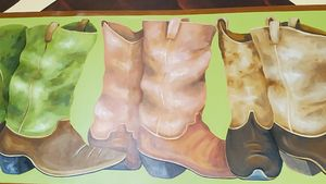 Boots - Decorative Painting by Marsha