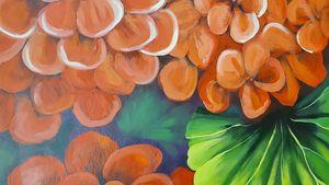 Geraniums - Decorative Painting by Marsha