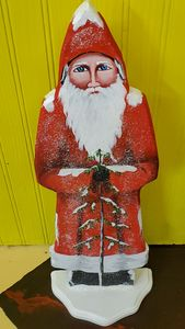 Santa in red - Decorative Painting by Marsha