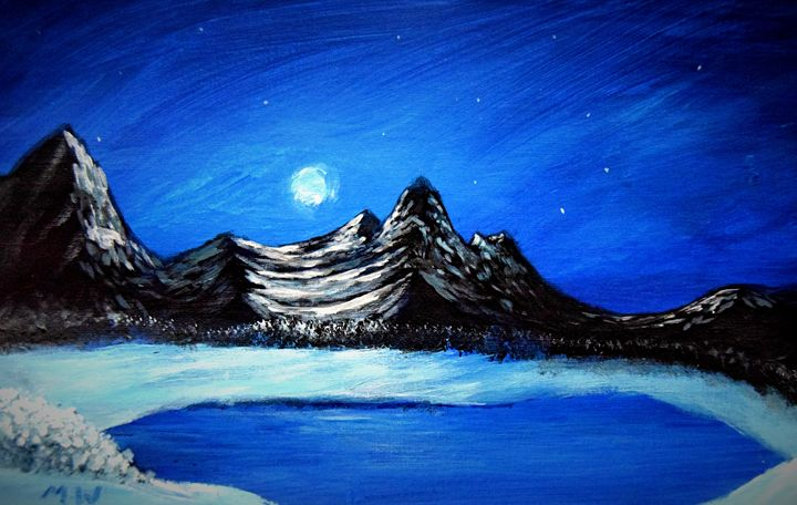 Midnight Mountain - Marc Waddell's paintings and drawings.