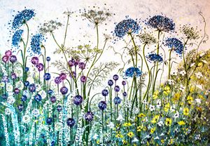 Alliums and Hedge Parsley - Lynette Bower Arts