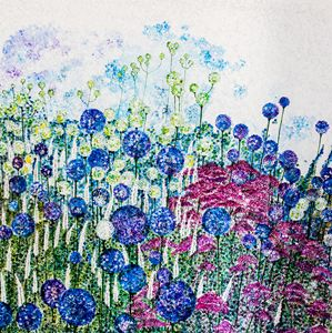 Alliums and Achillea - Lynette Bower Arts