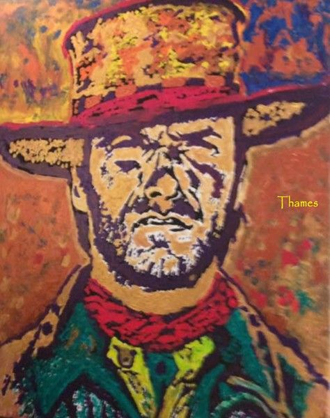 Clint Eastwood by Thames - Gallery 3 Bishop Arts