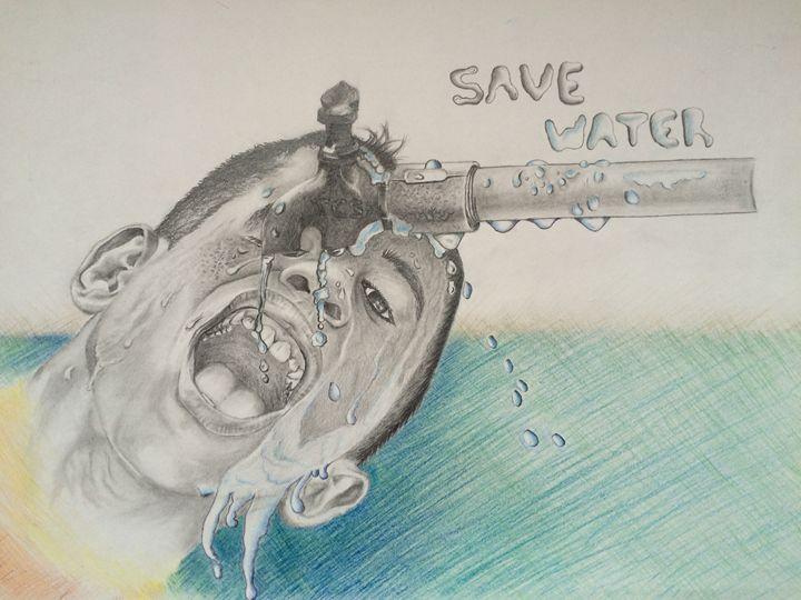 Save Water - hart