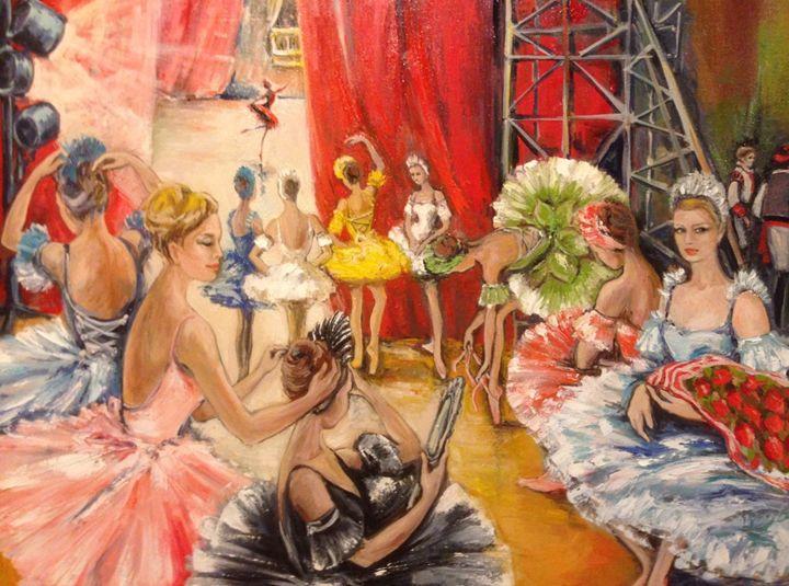 Backstage Chaos - Sona Manoukian Art