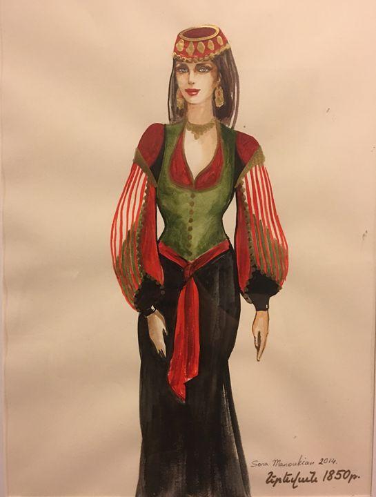 Yerevan 1850 Costume - Sona Manoukian Art