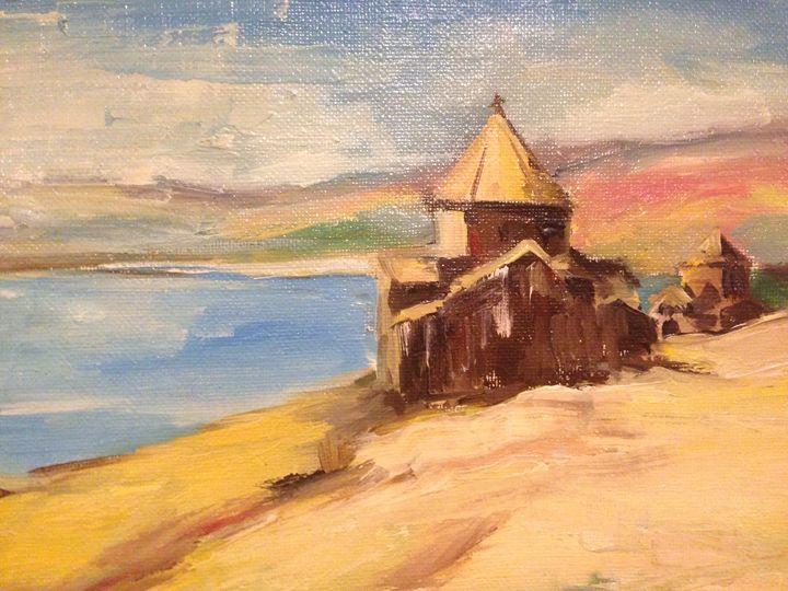 Island of Lake Sevan - Sona Manoukian Art