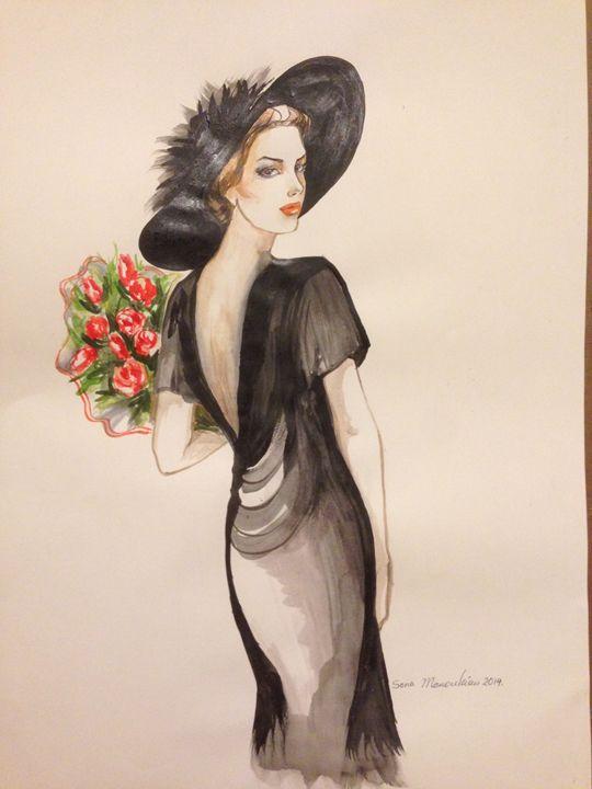 Woman in Black - Sona Manoukian Art