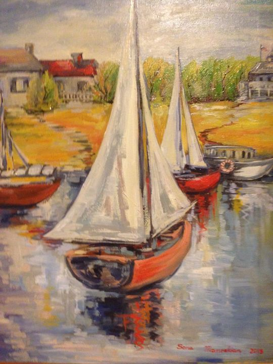Sailboat - Sona Manoukian Art