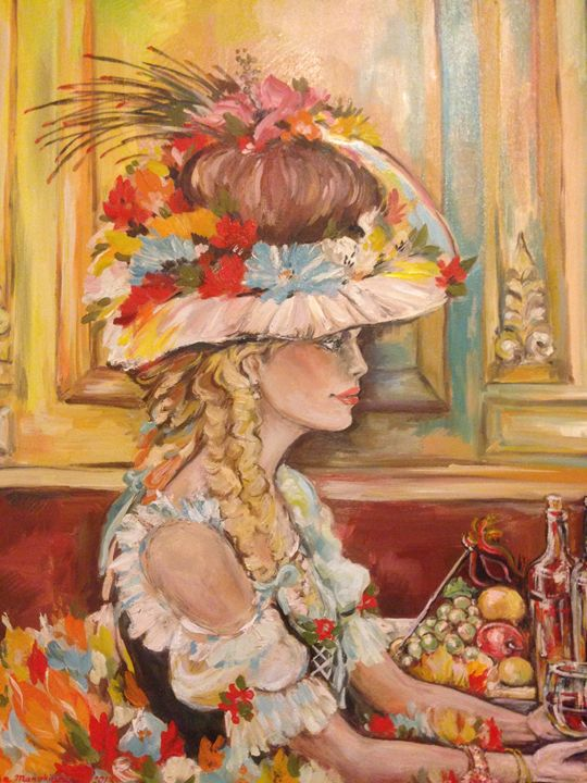 Profile of Woman - Sona Manoukian Art