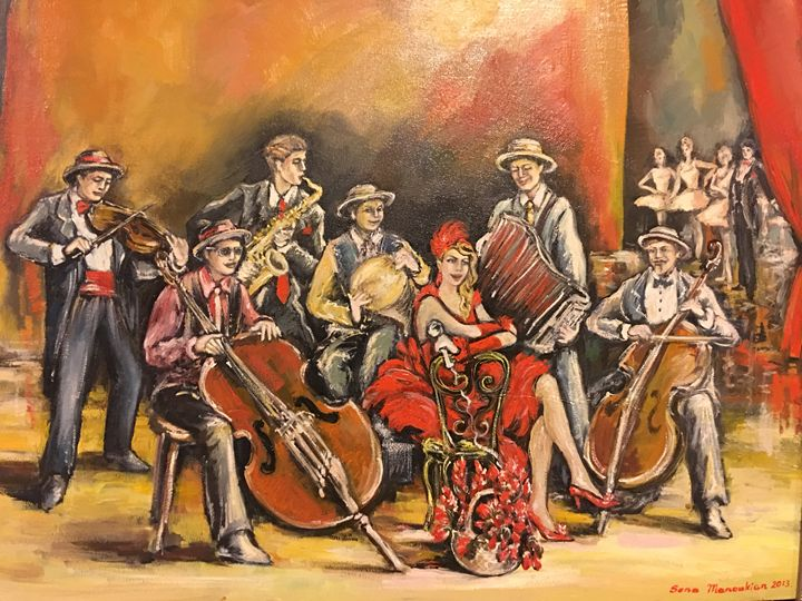 Jazz Band - Sona Manoukian Art
