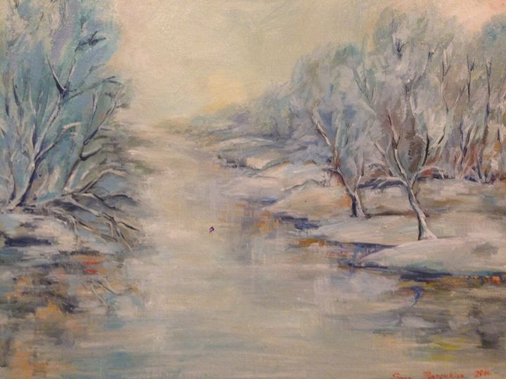 The Frozen River - Sona Manoukian Art