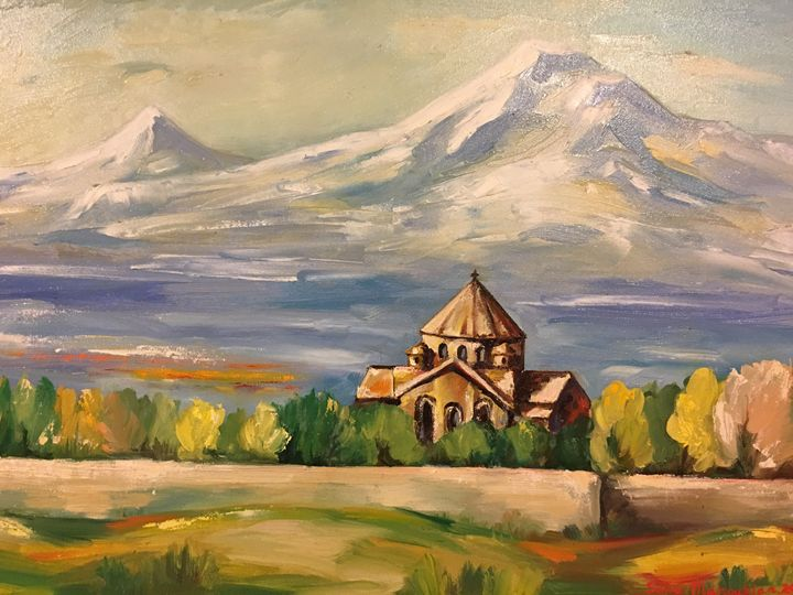 Spitak Sar-White Mountain - Sona Manoukian Art