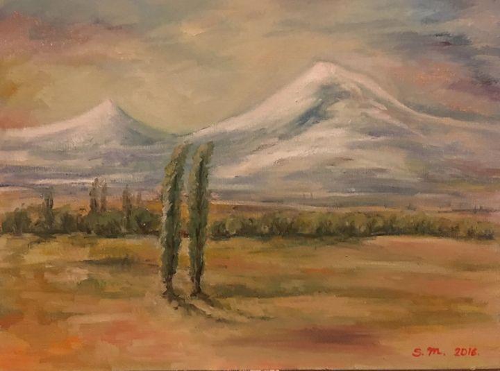 Ararat Field - Sona Manoukian Art