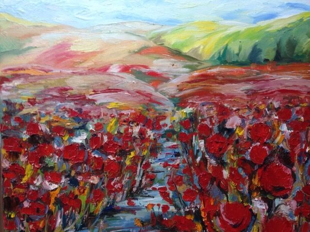 The Red Field - Sona Manoukian Art