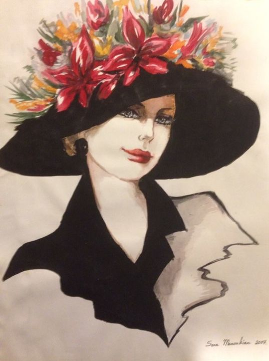 Bouquet Hat - Sona Manoukian Art